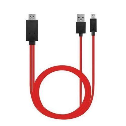 صورة Micro-USB To HDMI Cable-Red