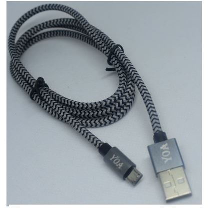 صورة Braided Micro-USB Data Cable  - Black/Gray
